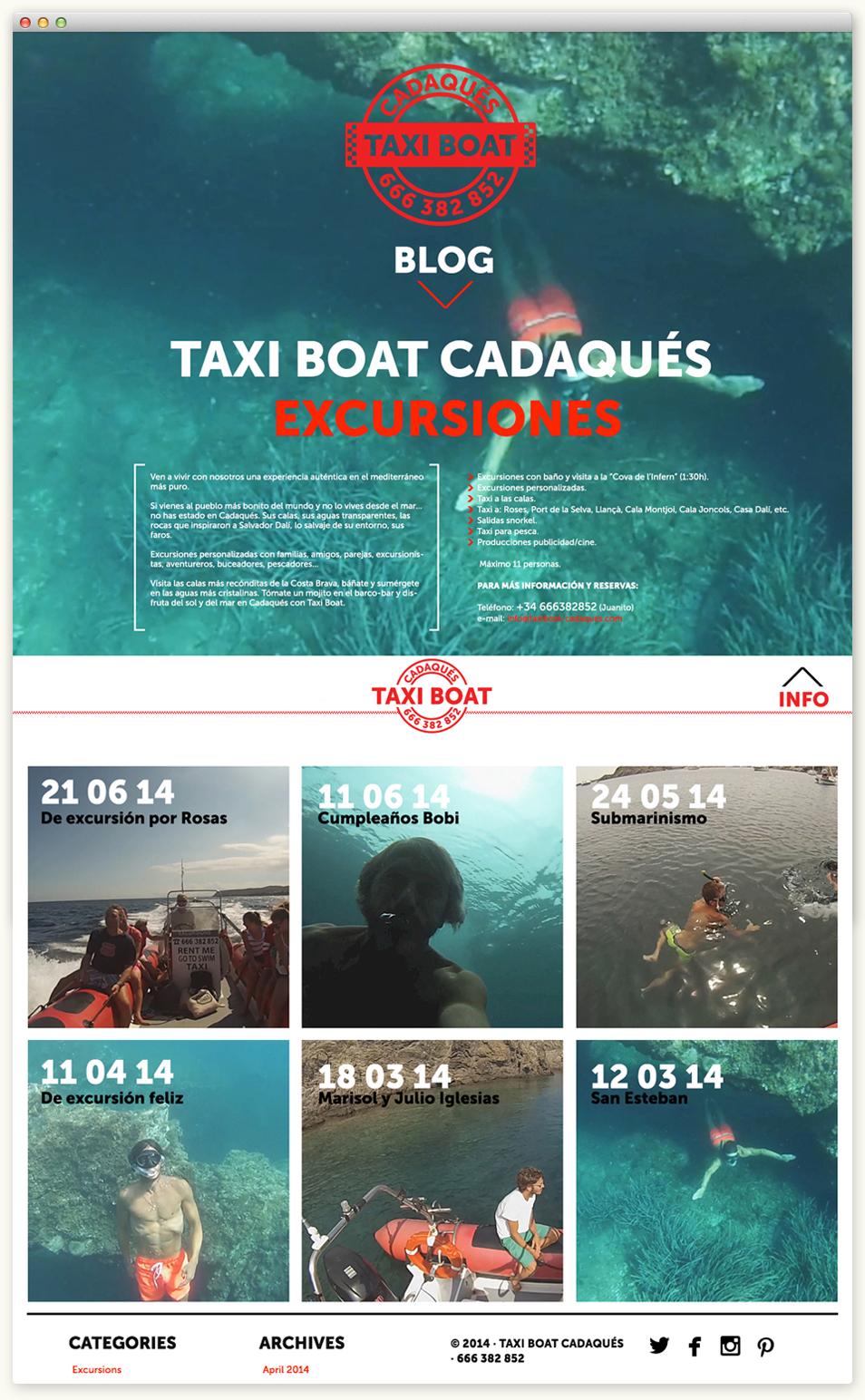 Taxi boat Cadaqués